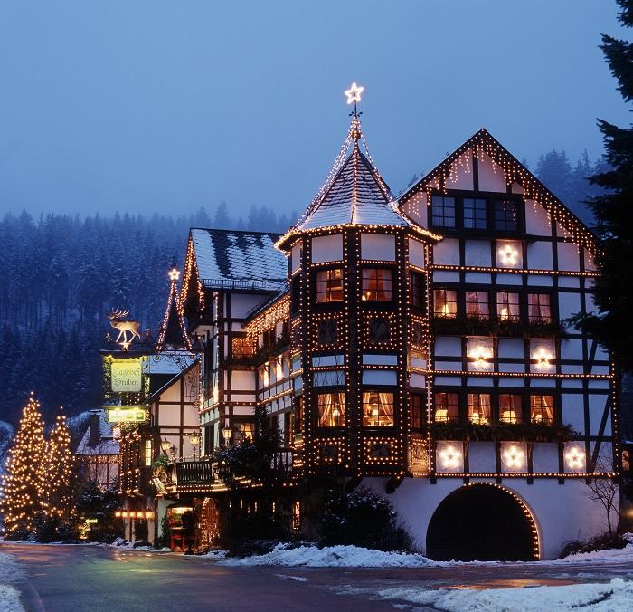 Das Hotel Jagdhof Glashütte in Bad Laasphe im Lichtermee