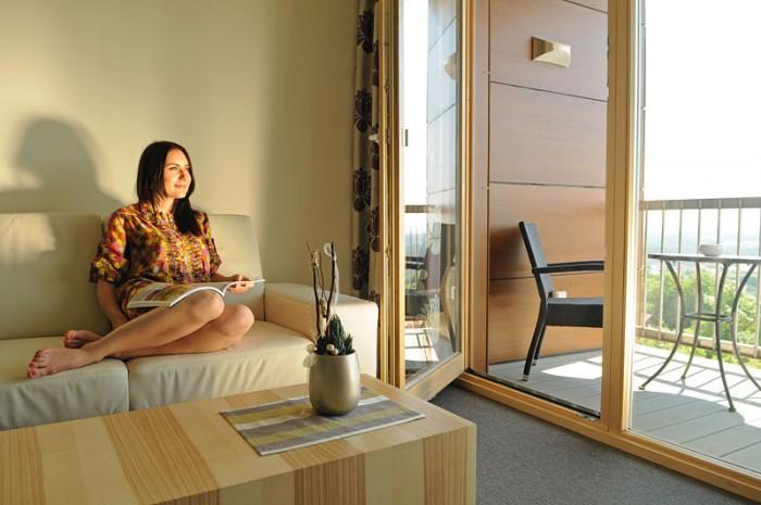 Tolle Aussicht in der Panorama-Suite im Thula Wellnesshotel