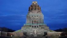 Imposantes Völkerschlachtdenkmal in Leipzig / Sachsen