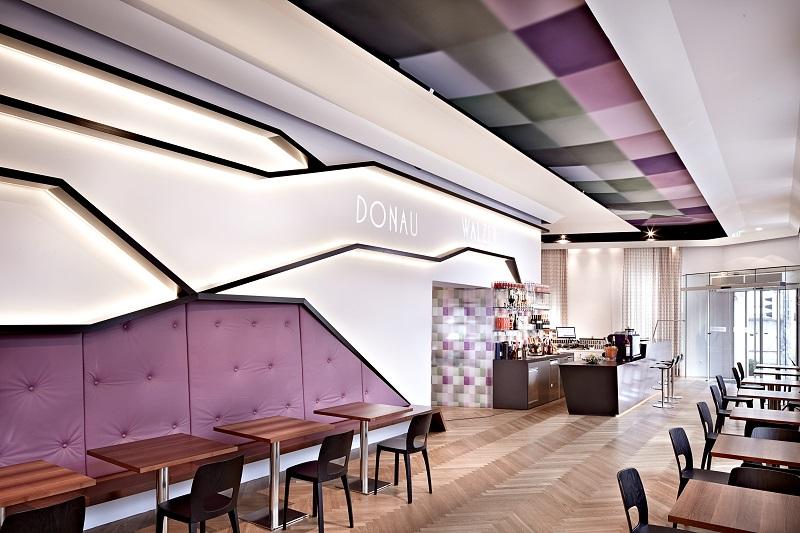 Bar-Bereich im Hotel Donauwalzer in Wien
