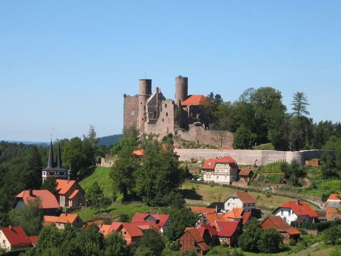 Die Burgruine Hanstein in Eichsfeld (Thüringen)