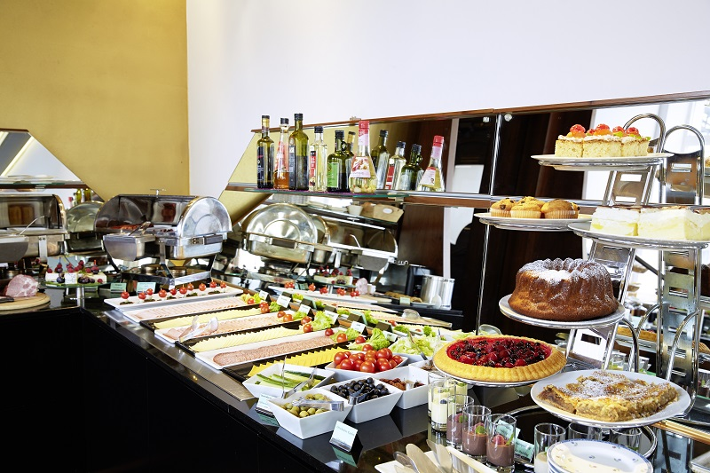 Leckeres Frühstücksbuffet im Hotel Donauwalzer in Wien