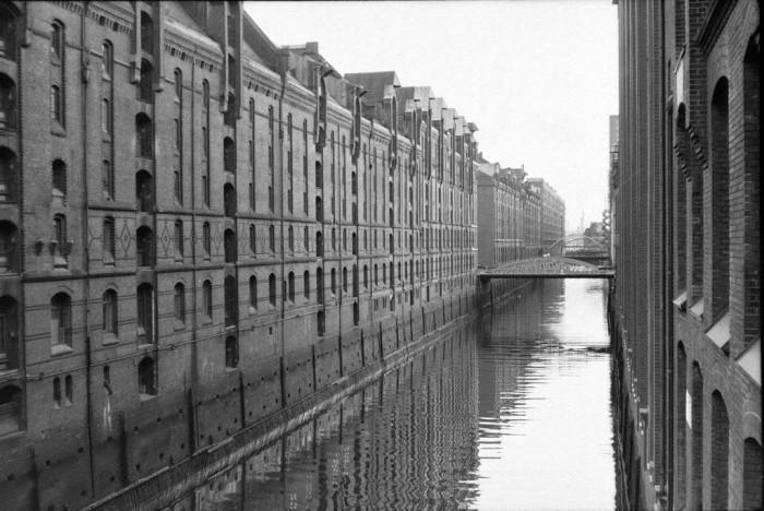 Speicherstadt in der Hansestadt Hamburg