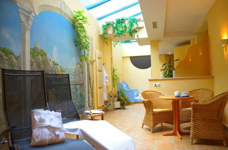 Gemütlicher Saunabereich des Hotels Himmelreich in Salzburg