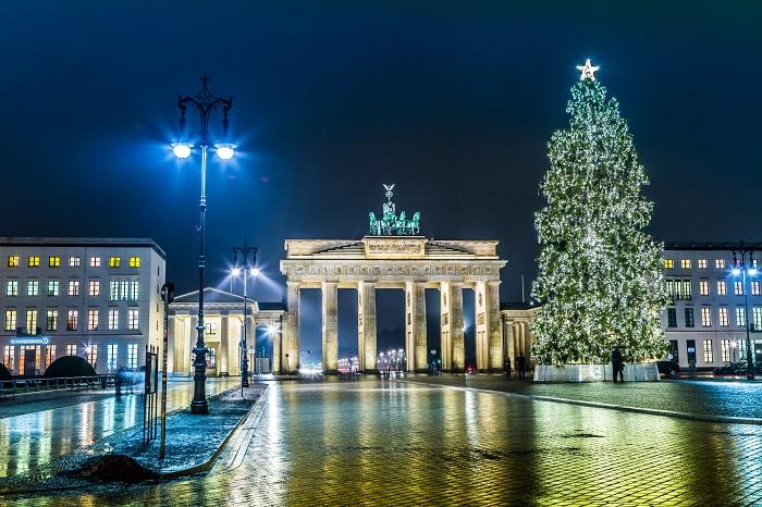 Das Brandenburger Tor in der deutschen Hauptstadt Berlin