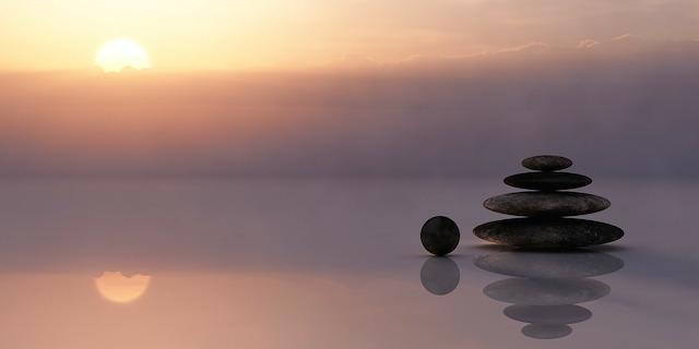 Steine in Zenformation